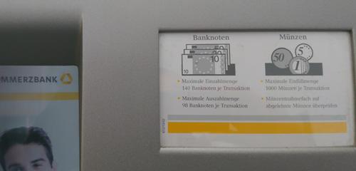 Commerzbank Geld Einzahlen Automat Maximal Ausreise Info
